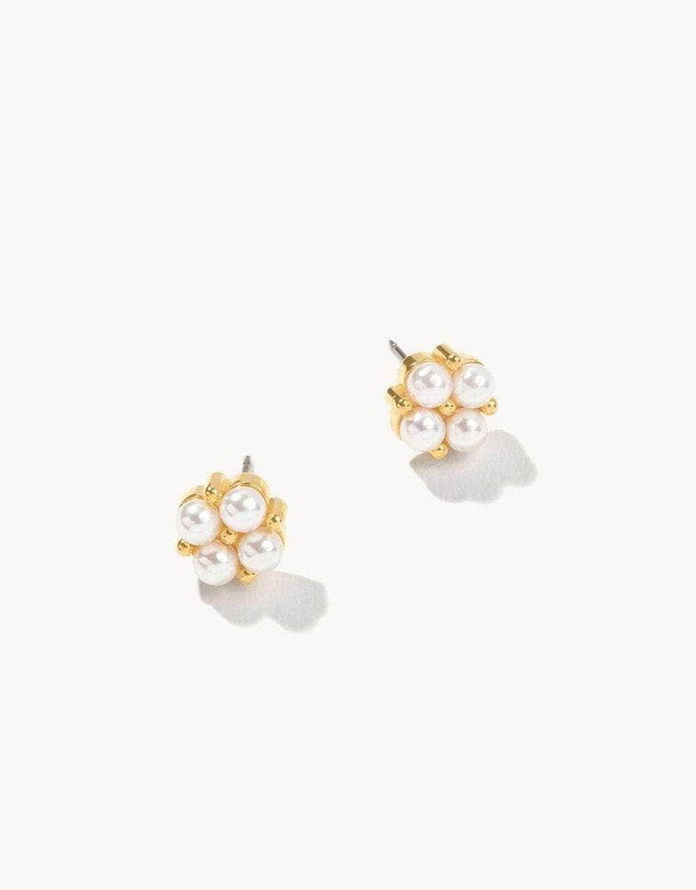 Pearl Clover Stud Earrings
