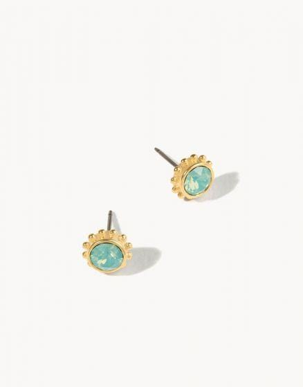 Pacific Opal Adorned Stud Earrings