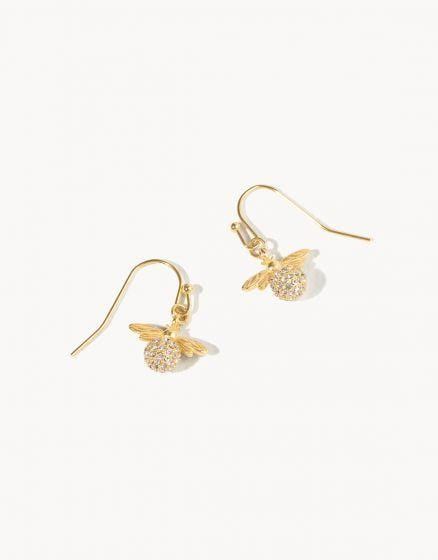 Sparkly Bee Drop Earrings at It's So Wright