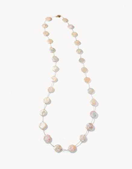 Coin Pearl Layering Necklace at It's So Wright