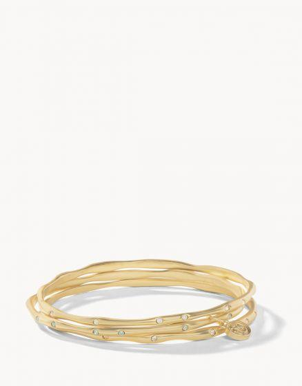 Gold Sprinkles Bangle Stack at It's So Wright