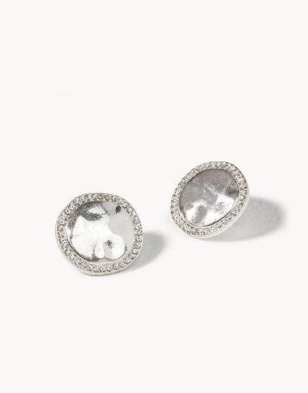 Silver Aura Stud Earrings at It's So Wright
