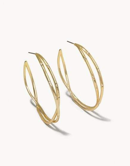 Gold Sprinkle Hoop Earrings