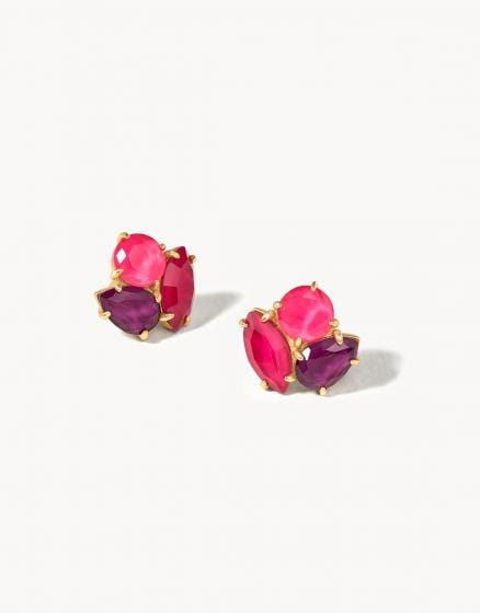 Merlot Cocktail Stud Earrings at It's So Wright