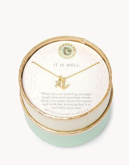It Is Well Gold Sea La Vie Necklace at It's So Wright