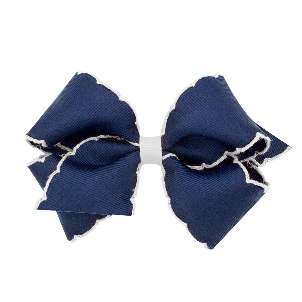Navy Moonstitch Small Bow
