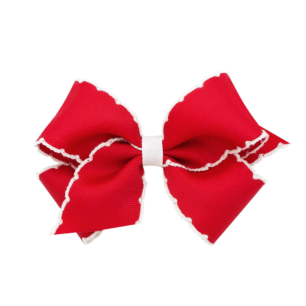 Red & White Moonstitch Small Bow
