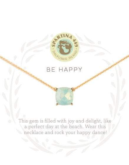 Be Happy Sea La Vie Necklace at It's So Wright