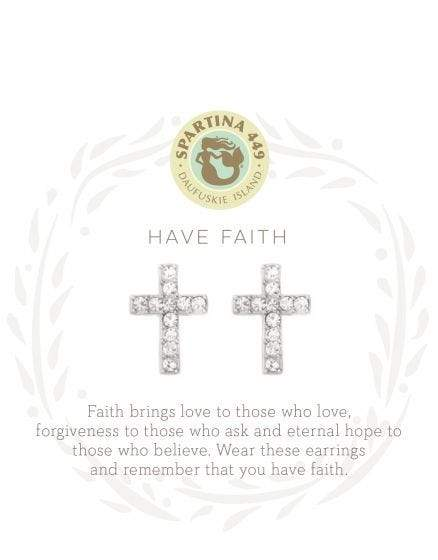Have Faith Silver Sea La Vie Earrings