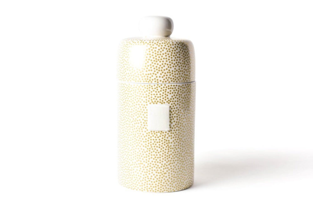 Happy Everything Gold Small Dot Canister