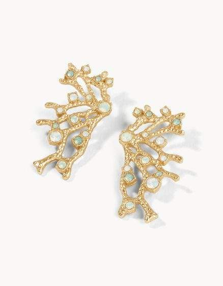Opal Fan Statement Earrings at It's So Wright