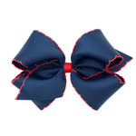 Navy & Red Moonstitch King Bow