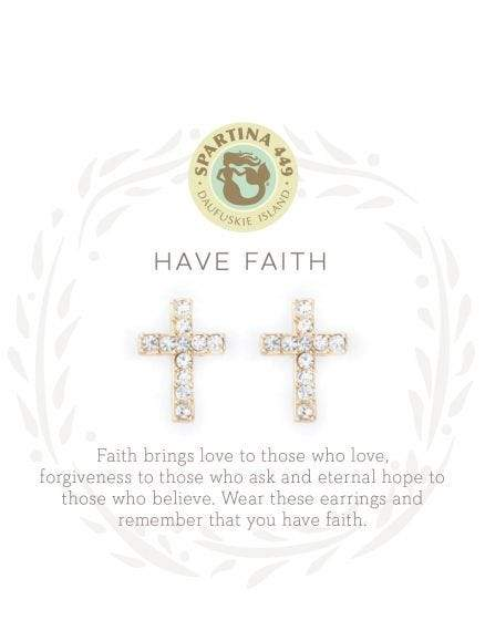 Have Faith Gold Sea La Vie Earrings