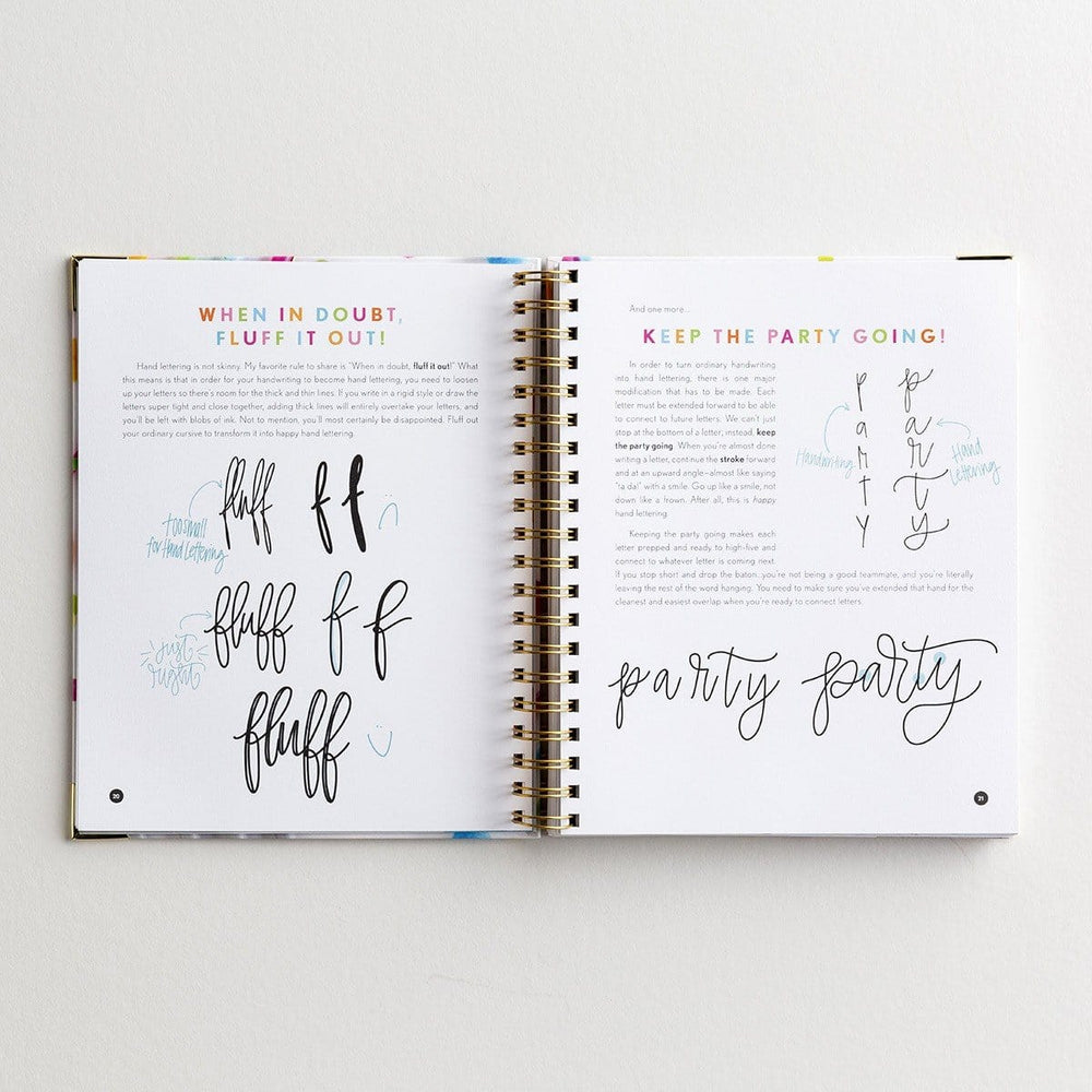Happy Hand Lettering Book at It's So Wright