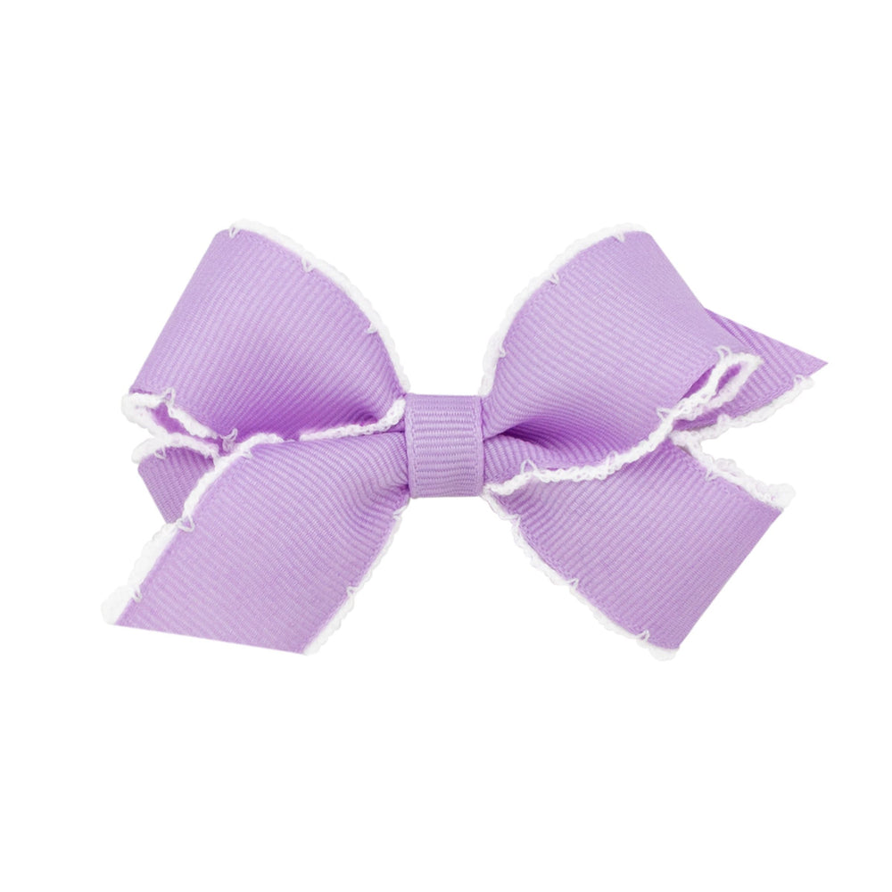 Light Orchid Moonstitch Mini Bow