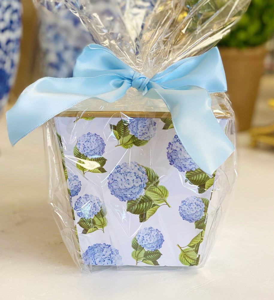 Blue Hydrangea Cachepot Candle
