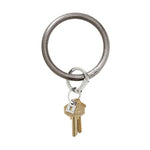 Gunmetal Leather BigO Key Ring at It's So Wright