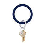 Midnight Navy Silicone BigO Key Ring at It's So Wright