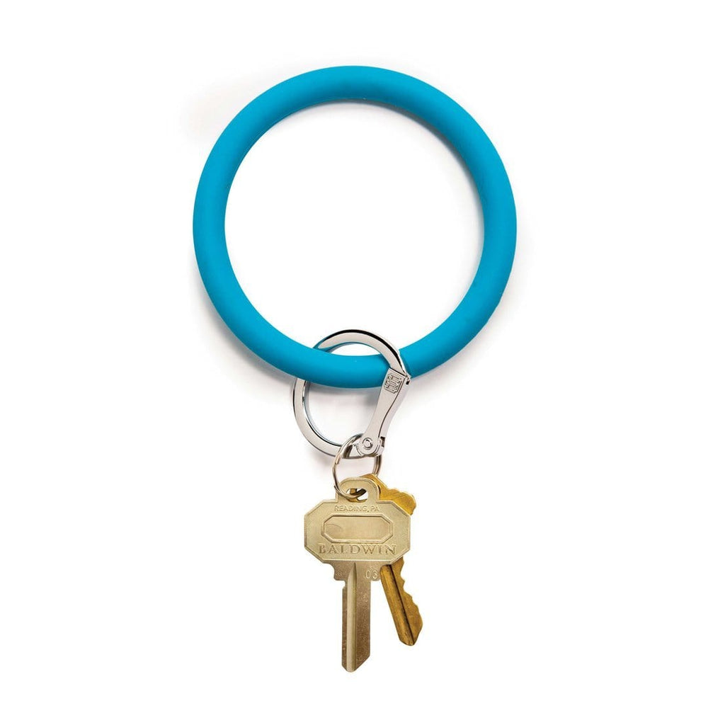 Peacock Blue Silicone BigO Key Ring at It's So Wright