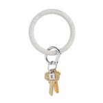 Silver Confetti Silicone BigO Key Ring at It's So Wright
