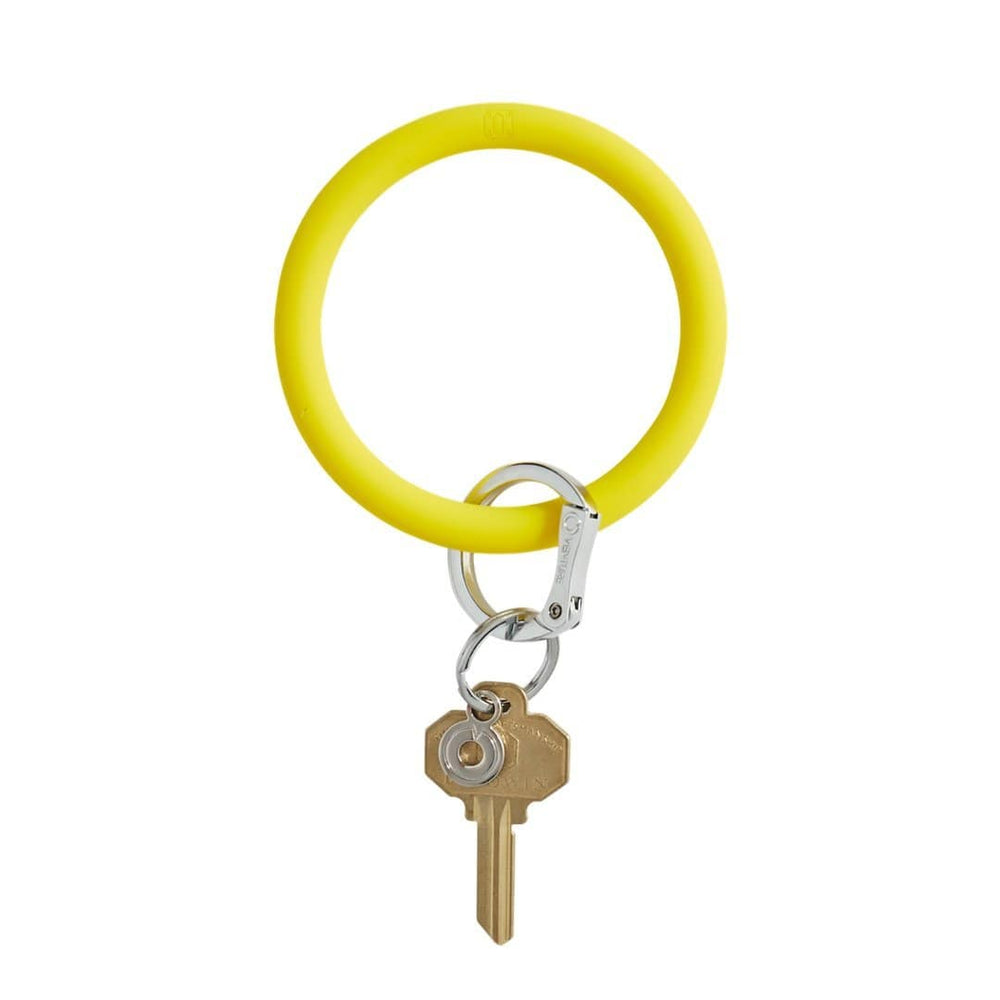 Yes Yellow Silicone BigO Key Ring at It's So Wright