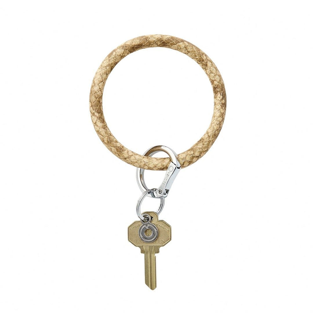 On the Beach Snakeskin Leather BigO Key Ring at It's So Wright