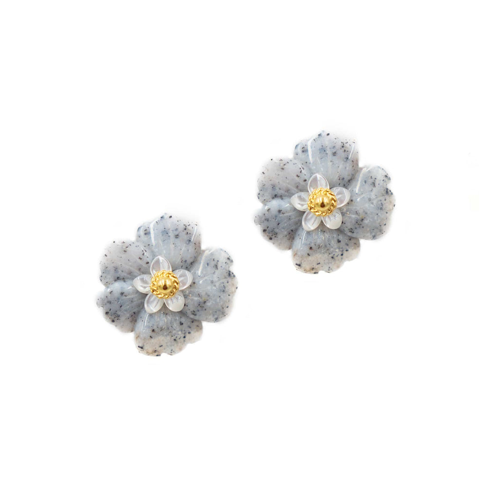 Azalea Periwinkle Earrings