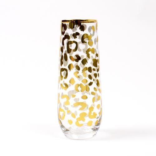 Gold Leopard Stemless Champagne