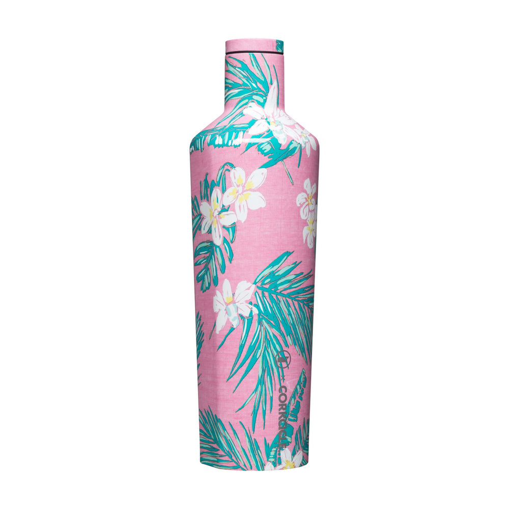 Pink Tropical Flowers Vineyard Vines 25oz Canteen