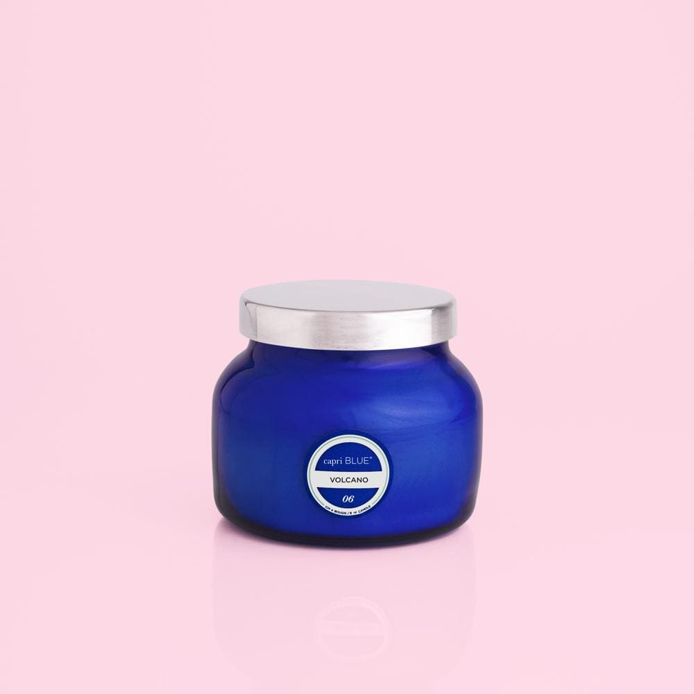 Volcano Candle Signature Blue Jar at It's So Wright