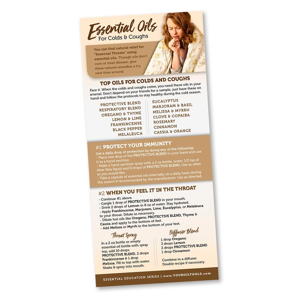Essential Oils for Colds & Coughs Education Card