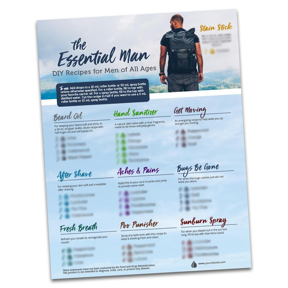 Essential Man Recipe Sheet (Pack of 10)