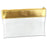 Clear Pouch with Gold Leather