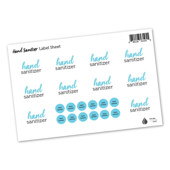 Hand Sanitizer Labels & Lid Stickers