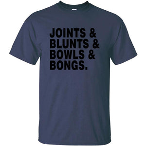 Short Sleeve Humor Joints Blunts Bowls Bongs T-shirt