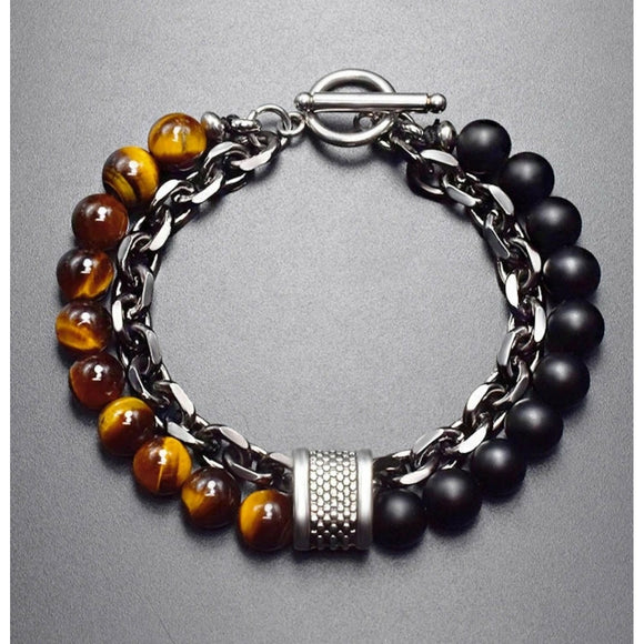 Men's Tiger Eye Chain Bracelet