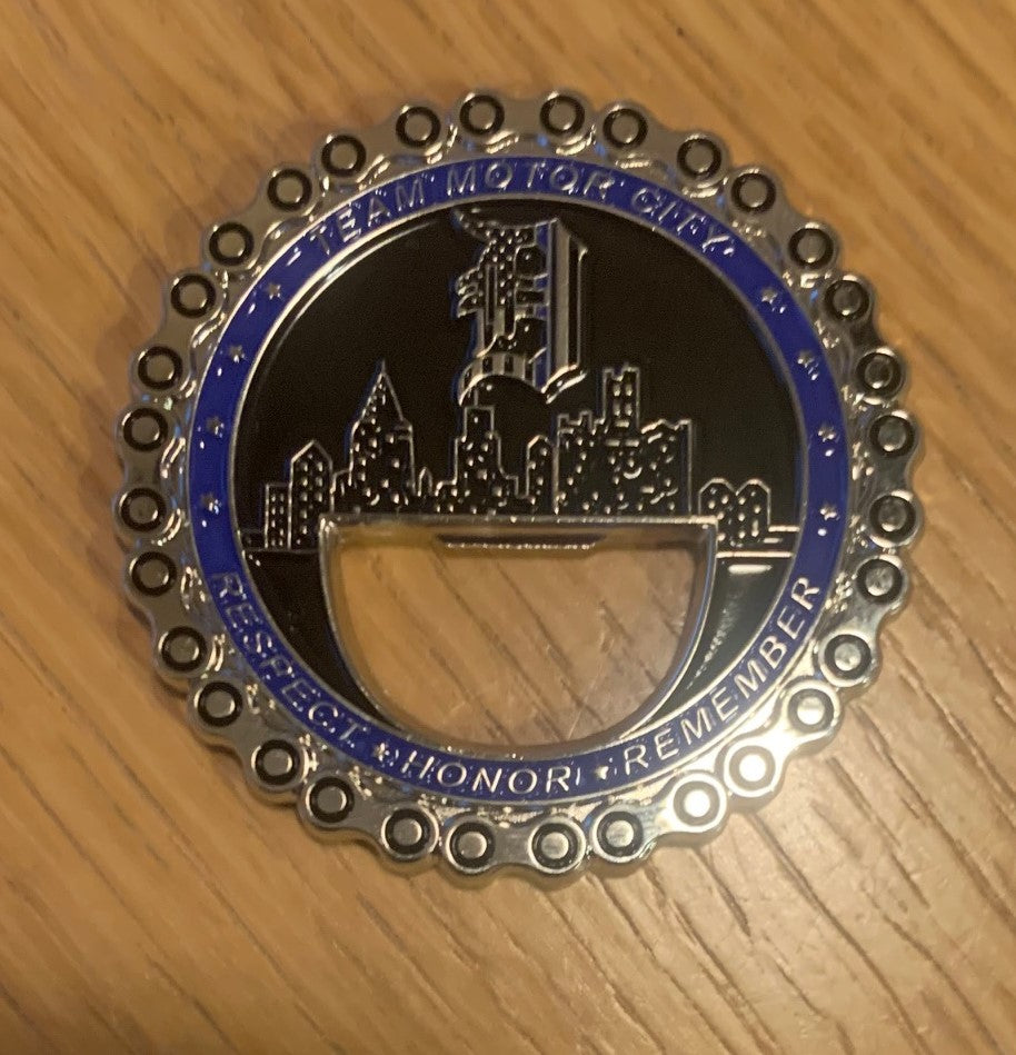 Team Motor City Police Unity Tour Challenge Coin