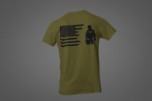 Load image into Gallery viewer, Tattered American Flag Police Officer