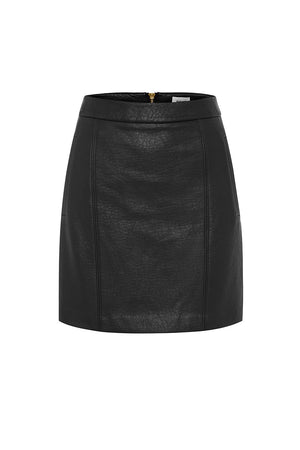 RIVAL BLACK MINI SKIRT