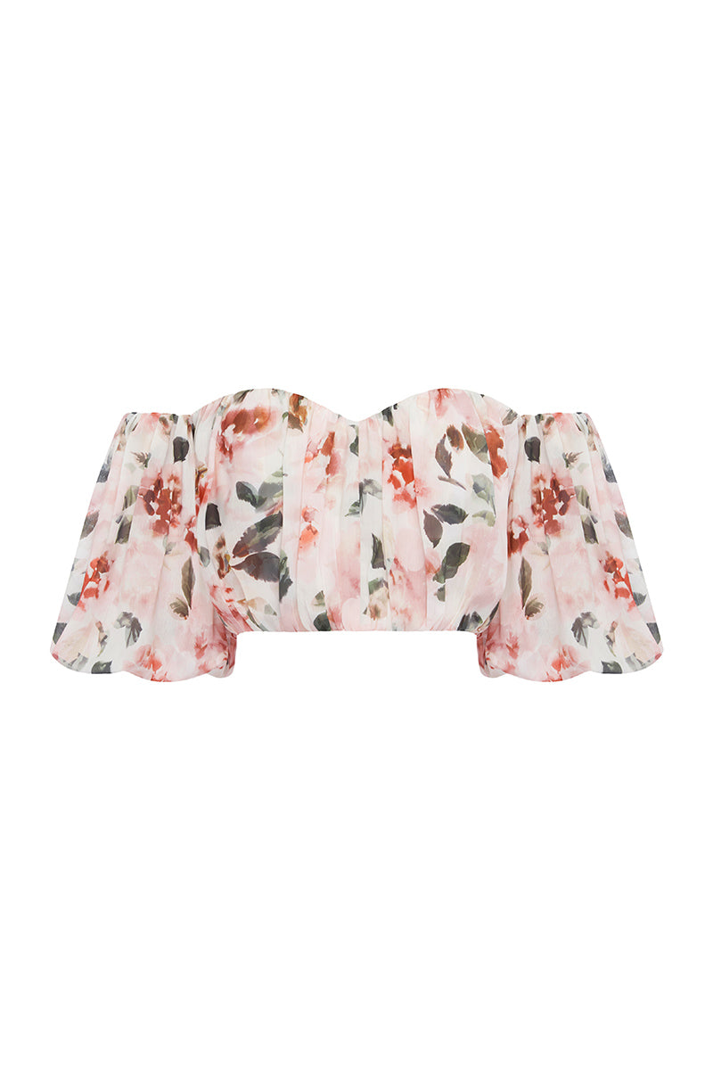 FRENCH FLORAL TOP