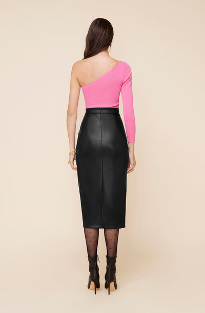 GOTHAM FAUX LEATHER SKIRT