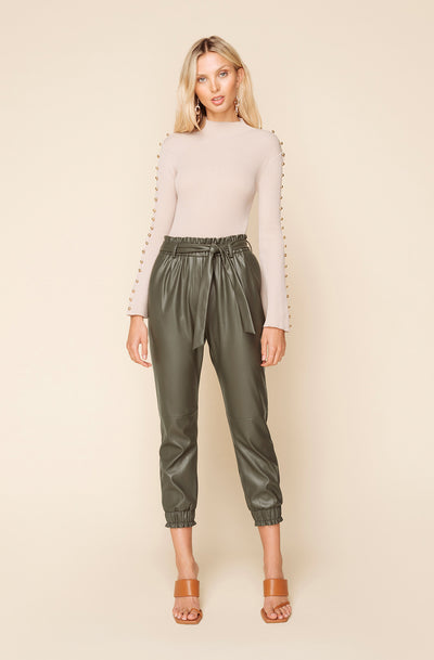 HARLEM FAUX LEATHER JOGGER
