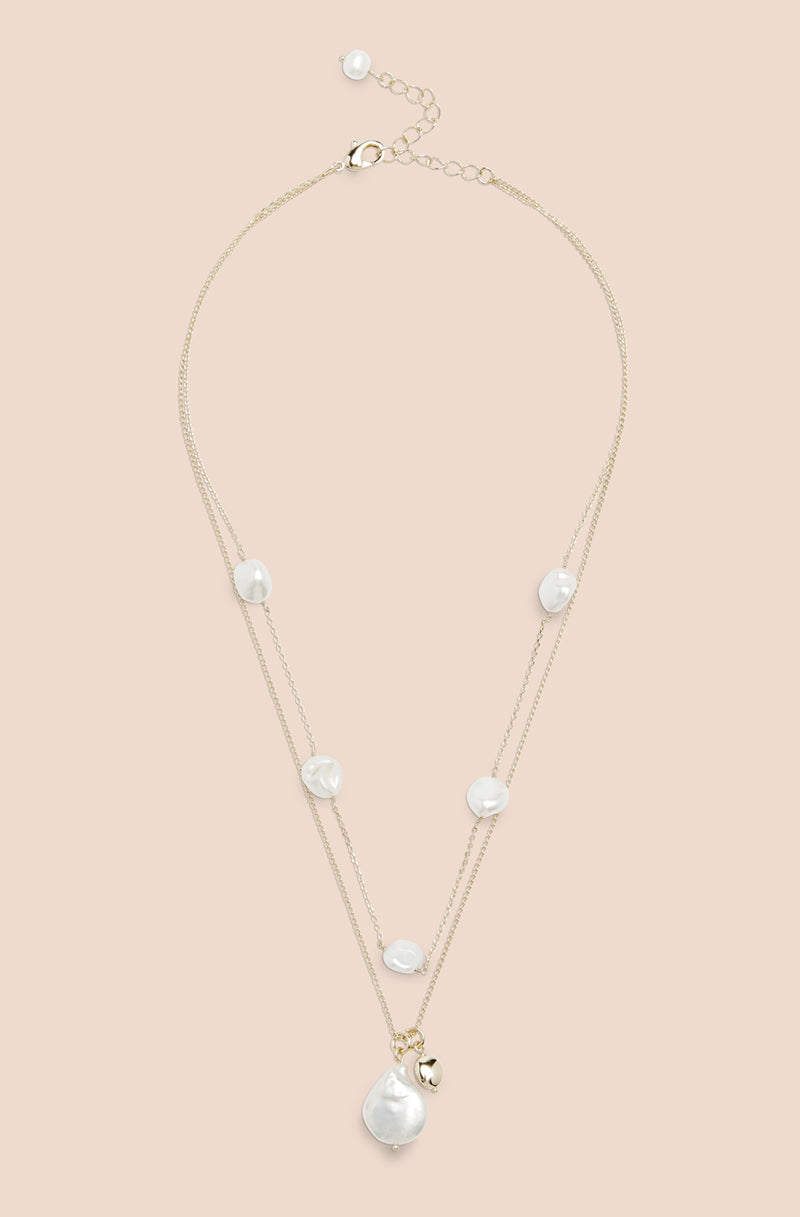 PEARL TRIM NECKLACE