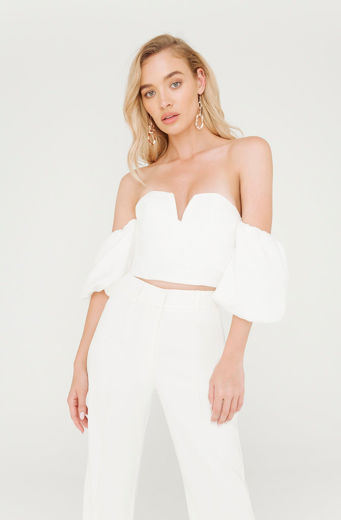 BILLIONAIRE WHITE CROP TOP