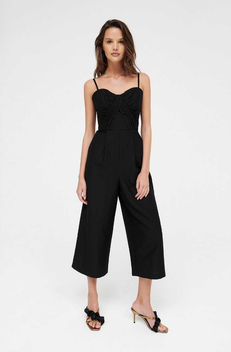 BLISS BLACK CULOTTE JUMPSUIT