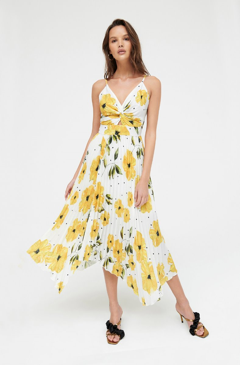 BRIGHT BLOOMS FLORAL DRESS