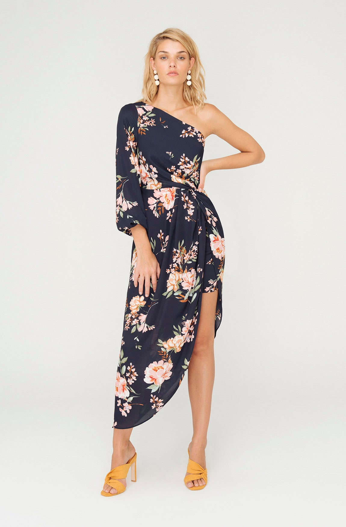 ELLY ONE SHOULDER FLORAL DRESS
