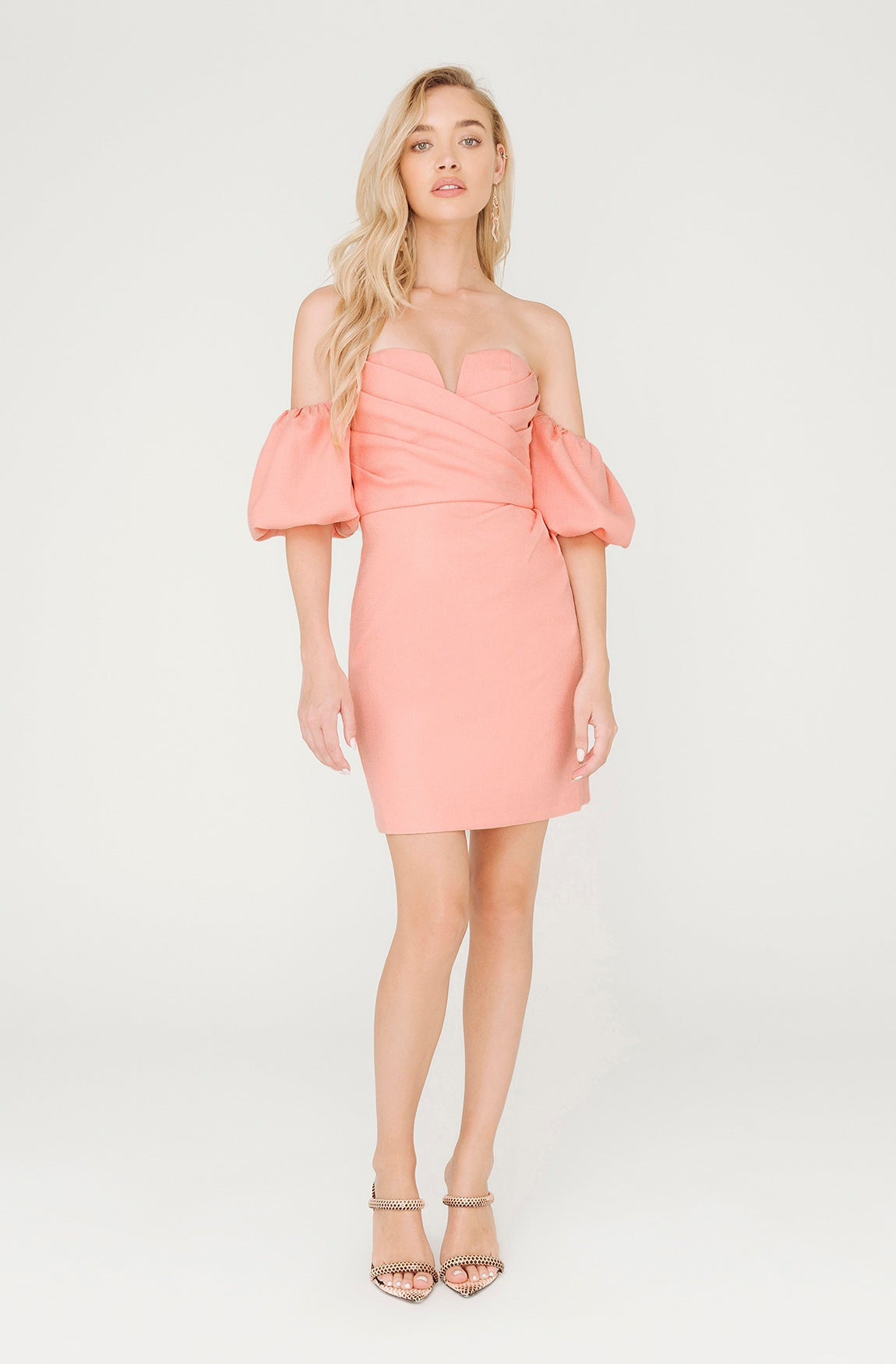 FLORENCE PINK OFF SHOULDER DRESS