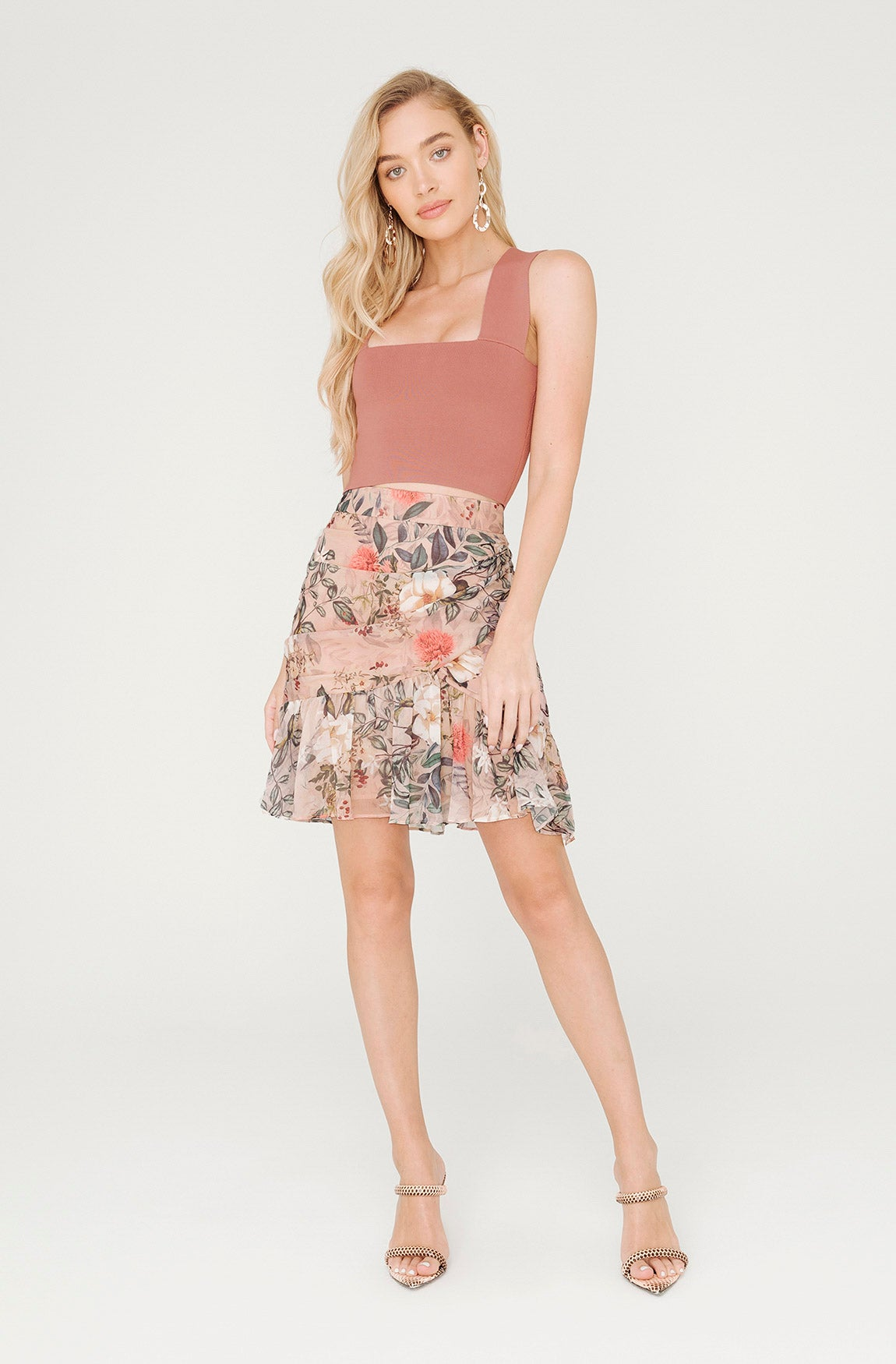 GARDEN OF EDEN FLORAL MINI SKIRT