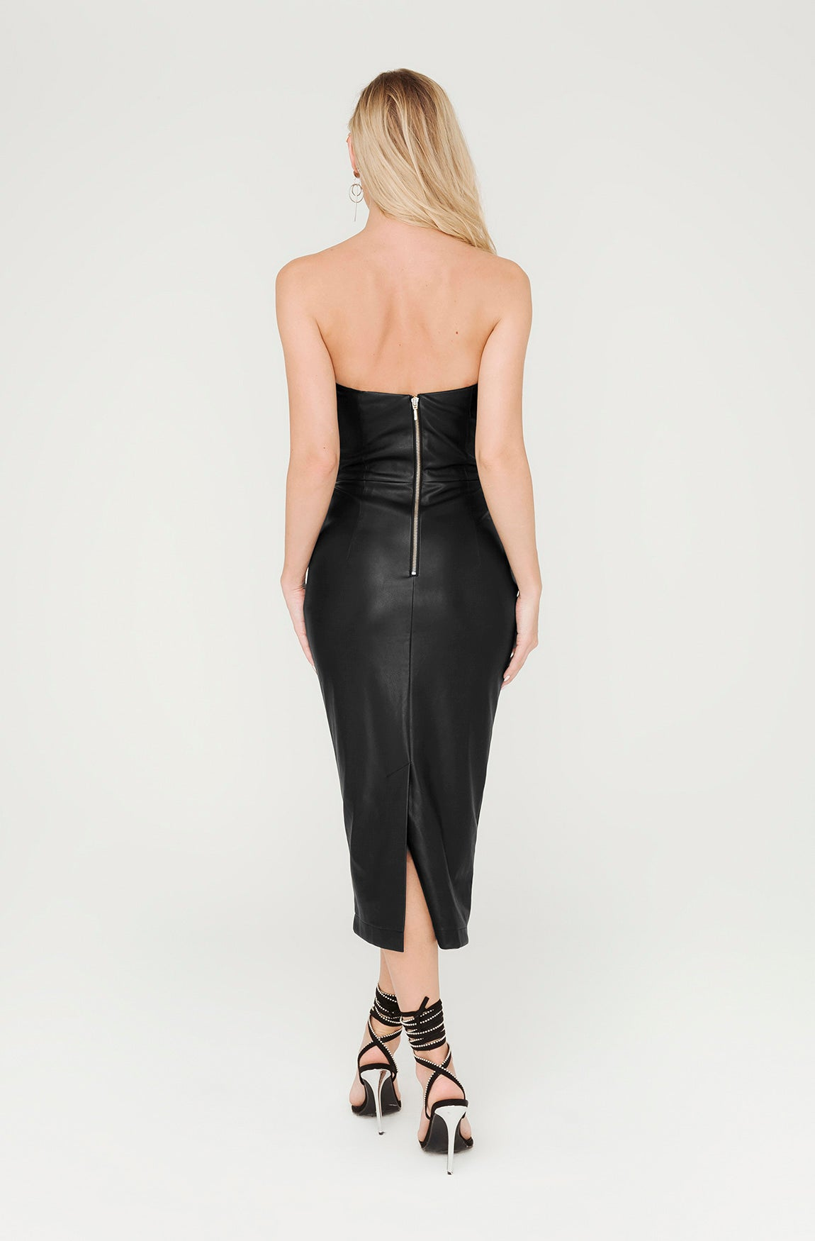 GOTHAM FAUX LEATHER DRESS